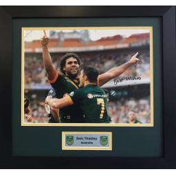 Sam Thaiday Australia Signed Framed Photo Display