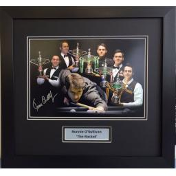 Ronnie O'Sullivan Signed Framed Montage Display