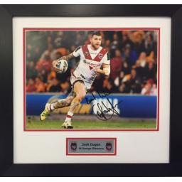 Josh Dugan St George Dragons Signed Framed Photo Display