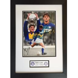 John Lukic Signed Framed Montage Display