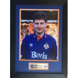 Denis Irwin Oldham Athletic Signed Framed Photo Display