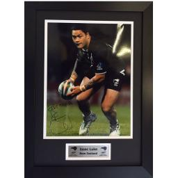 Isaac Luke New Zealand Signed Framed Photo Display