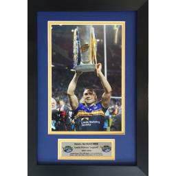 Kevin Sinfield Leed Rhinos Signed Framed Photo Display