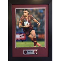 Darius Boyd Queensland Signed Framed Photo Display