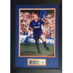 Andy Richie Oldham Athletic Signed Framed Photo Display