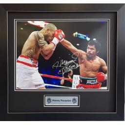 Manny Pacquiao Signed and Framed Photo Display