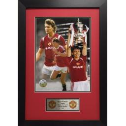 Bryan Robson Manchester United Signed Framed Photo Display