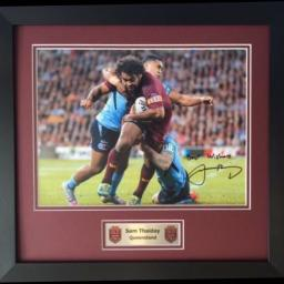 Sam Thaiday Queensland Signed Framed Photo Display