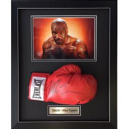 Mike Tyson Signed Framed Glove Display