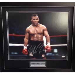 'IRON' Mike Tyson Singed Framed Photo Display