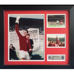 Geoff Hurst England Signed Framed Photo Display