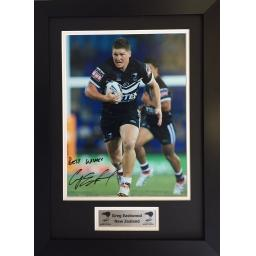 Greg Eastwood New Zealand Signed Framed Photo Display