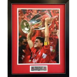 Steven Gerrard Liverpool FC Signed Framed Photo Display