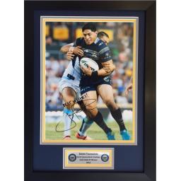 Jason Taumalolo North Queensland Cowboys Signed Framed Photo Display