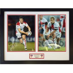 Danny McGuire & Rob Burrow England RL Signed Framed Photo Display