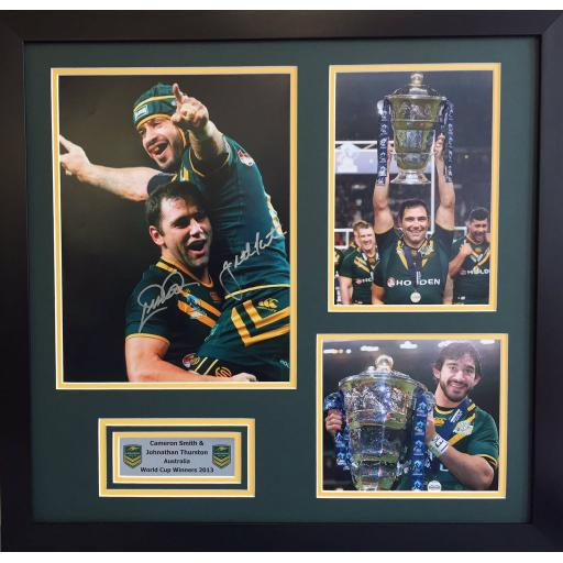 Johnathan Thurston & Cameron Smith Signed Framed Photo Display