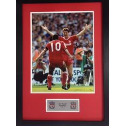 Ian Rush Liverpool FC Signed Framed Photo Display