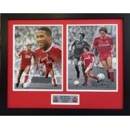John Barnes & Peter Beardsley Liverpool FC Signed Framed Photo Display