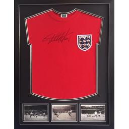Sir Geoff Hurst England Signed Framed Shirt Display