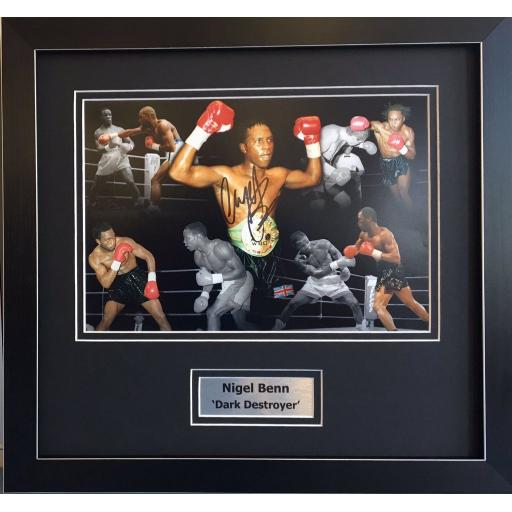 Nigel Benn Signed Framed  Montage Display