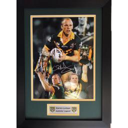 Darren Lockyer Australia Signed Framed Photo Display