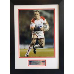 Adrian Morley England Signed Framed Photo Display