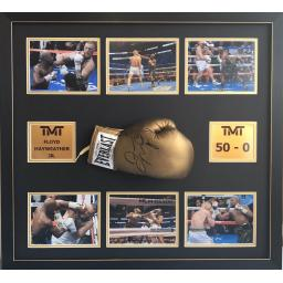 Floyd Mayweather Jr Signed Boxing Glove Display