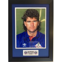 Ian Marshall Oldham Athletic Signed Framed Photo Display