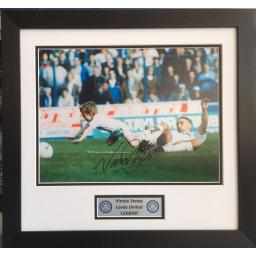 Vinnie Jones Leeds United Signed Framed Photo Display