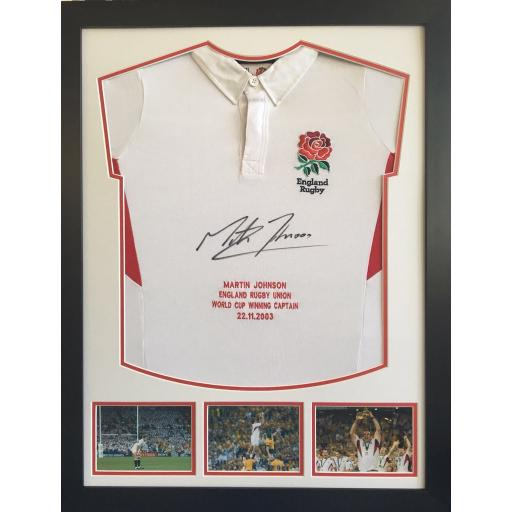 Martin Johnston Signed Framed Shirt / Picture Display