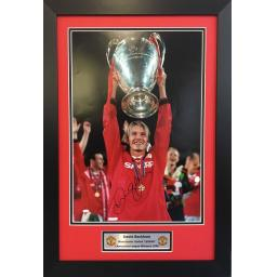 David Beckham Manchester United Signed Frame Photo Display