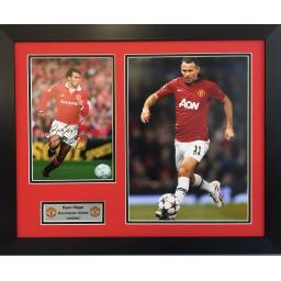 Ryan Giggs Manchester United Signed Framed Photo Display