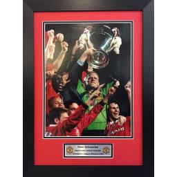 Peter Schmeichel Manchester United Signed Framed Photo Display