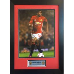 Marcus Rashford Manchester United Signed Framed Photo Display