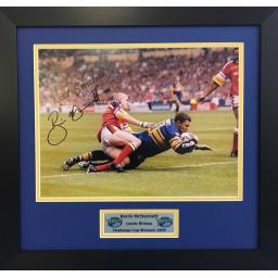 Barrie McDermott Leed Rhinos Signed Framed Photo Display