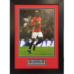Paul Pogba Manchester United Signed Framed Photo Display