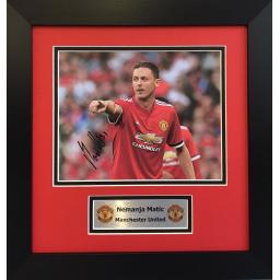 Nemanja Matić Manchester United Signed Framed Photo Display