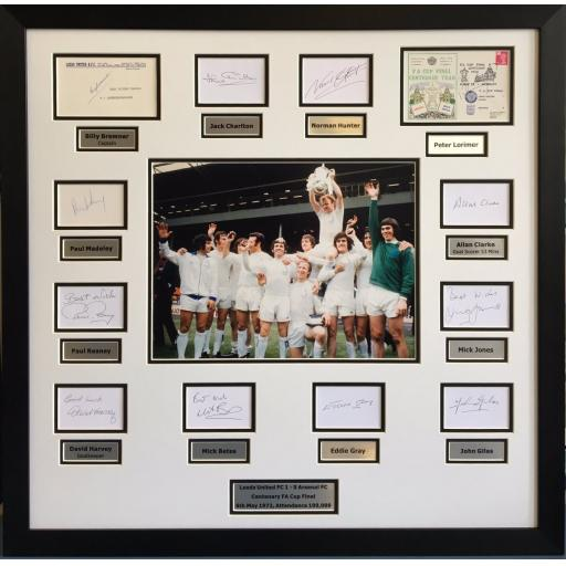 Leeds United 1972 FA Cup Fully Signed Framed Photo Display