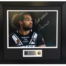 Adam Blair NZ Signed Framed Photo Display