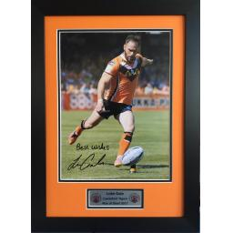 Luke Gale Castleford Signed Framed Photo Display