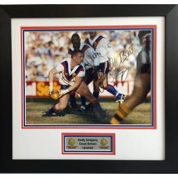 Andy Gregory GB Signed Framed Photo Display