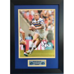 Jamie Peacock Leeds Rhinos Signed Framed Photo Display