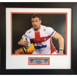 Jamie Peacock England Signed Framed Photo Display
