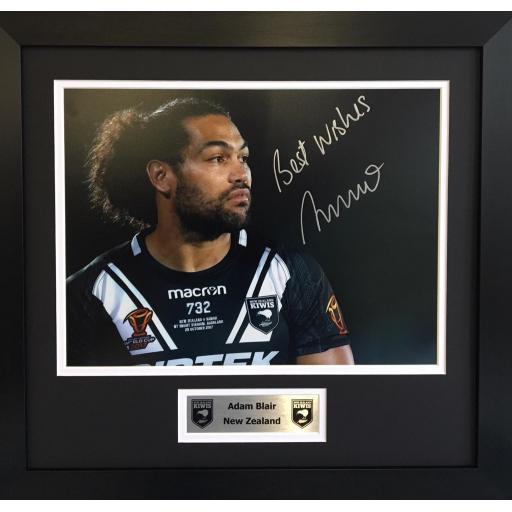 Adam Blair NZ Signed Framed Photo Display