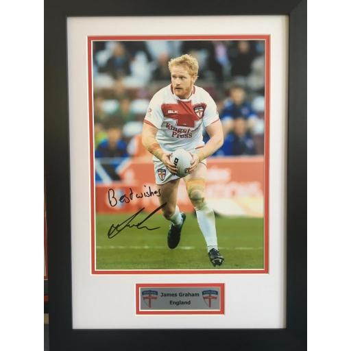 James Graham England Signed Framed Photo Display