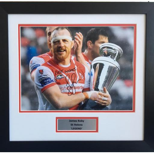 James Roby St Helens Signed Framed Photo Display
