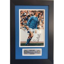 Colin Bell Manchester City Signed Framed Photo Display
