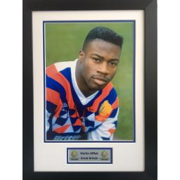 Martin Offiah GB Signed Framed Photo Display