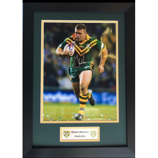 Shane Webcke Australia Signed Framed Photo Display