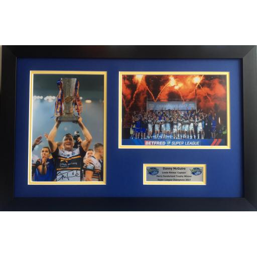 Danny McGuire Leeds Rhinos Signed Framed Photo Display